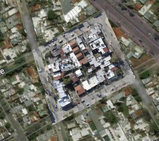 Manzana completa respecto a Google Maps